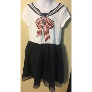 H & M Girl's Dress with Painted Collar Design